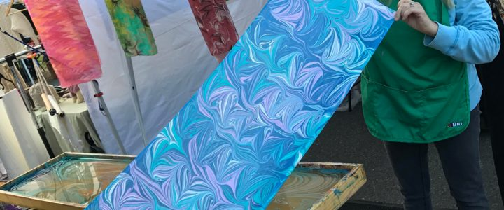 Silk Scarf Marbling and Wine Club
